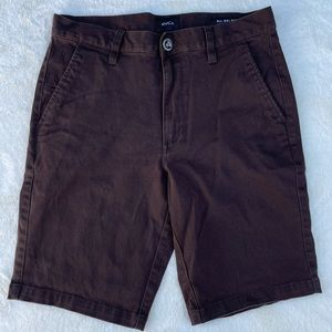 RVCA All Day Stretch Shorts Brown sz 28